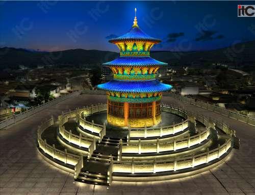 拉萨西道寺---塔楼亮化案例.docx